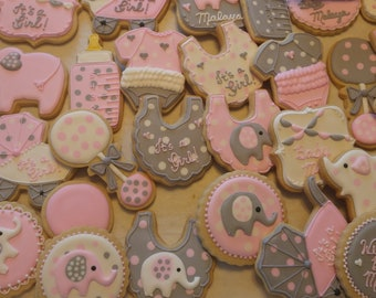 Baby Shower Cookies/Baby Shower Favors/Baby Shower/Baby Elephant Favors/Welcome Baby