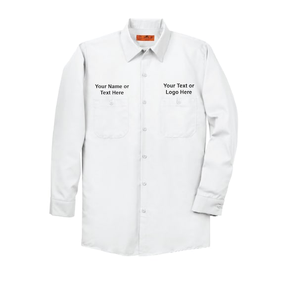 d7c872c9db3 REDKAP CUSTOM Long Sleeve Dickies Style Vintage Work Shirt | Etsy