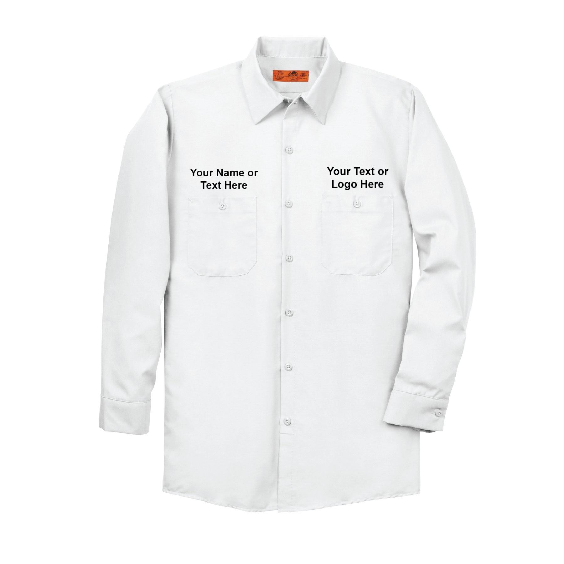 Redkap Custom Long Sleeve Dickies Style Vintage Work Shirt Etsy