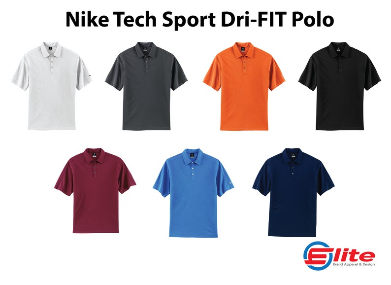 4e8a7b93 Nike Tech Sport Dri-FIT Polo Personalized Nike Shirt Custom | Etsy
