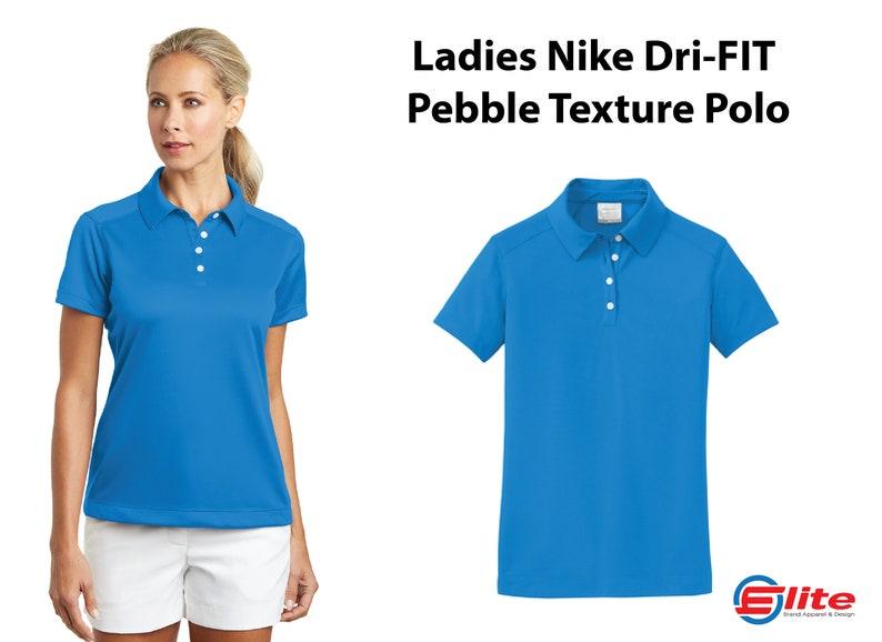 e0f349b9 Nike Ladies Dri-FIT Nike Pebble Texture Polo Nike | Etsy