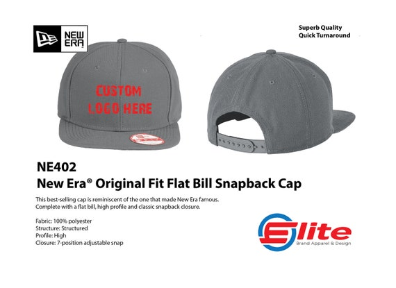 NEW ERA ORIGINAL FIT 9FIFTY SNAPBACK WITH CUSTOM EMBROIDERY