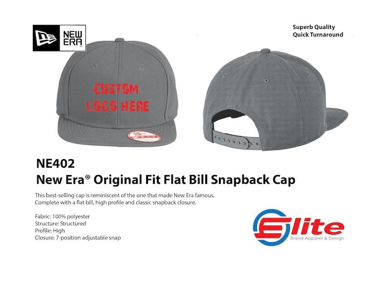 26ca8d83e52c8 New Era 9fifty Hat NE402 Original Fit Snapback Hat Custom