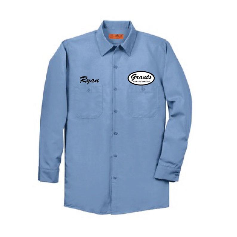 69cfbd2fc9e REDKAP OVAL Long Sleeve Shirt Dickies Style Shirt Vintage | Etsy