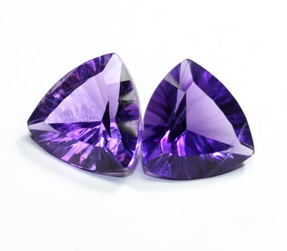 AFRICAN AMETHYST 12 x 10 MM OVAL CONCAVE CUT ALL NATURAL AAA