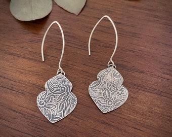 """Silver Earrings - """"True Heart Earrings"""" - Dangle earrings"""