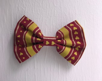 "Heart Patterned 5"" Hair Bow"