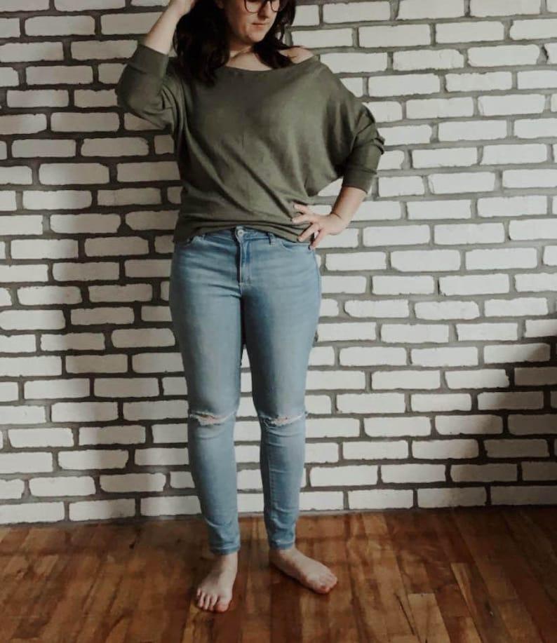 Khaki bat sweater