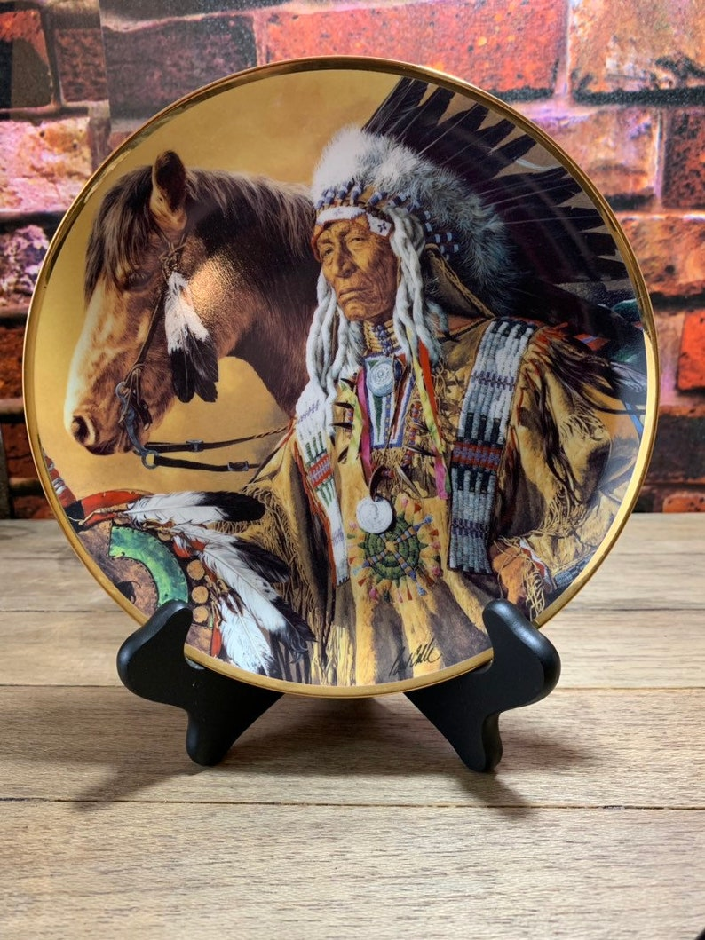 Pride of the Sioux Limited Edition Franklin Mint The Indian Heritage Foundation Museum