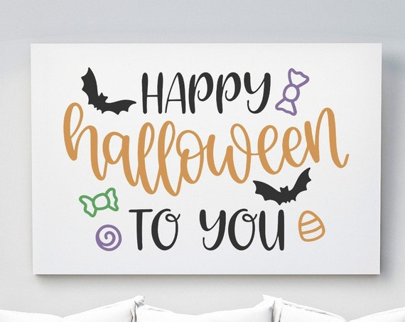 Happy Halloween to You | Horizontal Poster Wall Art, Multiple Sizes