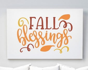 Fall Blessings | Horizontal Poster Wall Art, Multiple Sizes
