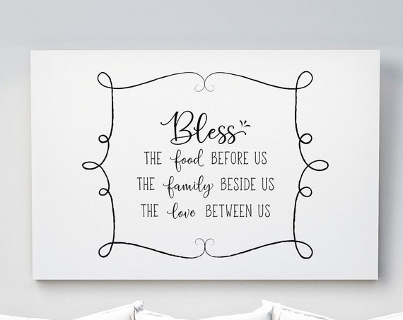 Bless Food Family Love | Horizontal Poster Wall Art