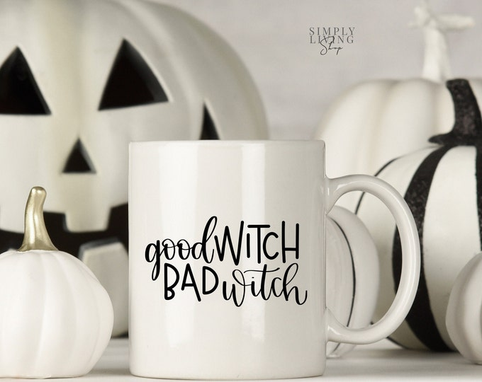 Featured listing image: Halloween Mug - Halloween Quote Mug - Witch Quote Mug | Good Witch Bad Witch