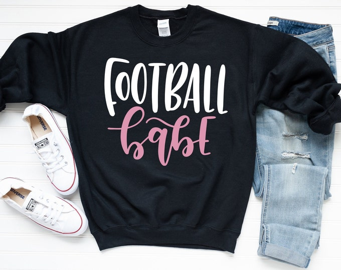 Featured listing image: Football Sweatshirt - Fall Sweatshirt - Football Quote Sweatshirt | Football Babe