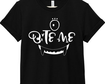 Halloween Shirt - Halloween Quote T-Shirt - Halloween Quote Tee | Bite Me