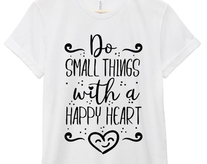 Featured listing image: Quote T-Shirt - Inspirational Quote T-Shirt - Motivational Quote T-Shirt | Do Small Things