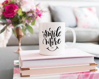 Motivational Mug | Quote Coffee Mug | Coffee Mug | Smile More