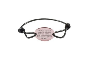 Inspirational Bracelet - Genuine Leather Bracelet - Rose Gold Bracelet | Beautiful Things
