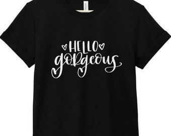 Quote T-Shirt - Inspirational Quote T-Shirt - Happiness Quote T-Shirt | Hello Gorgeous