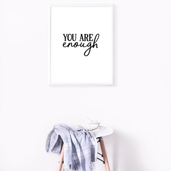 You Are Enough | Mental Health Awareness Poster, Mental Health Awareness