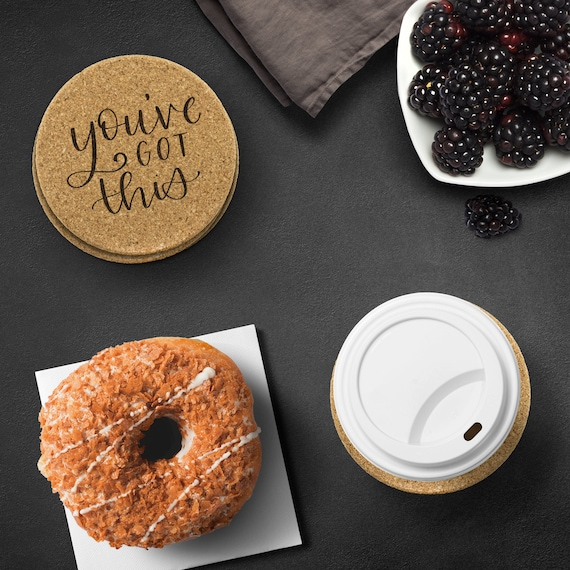 You've Got This | Etched Cork Coaster Set