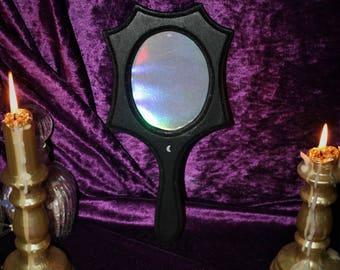 Holographic mirror frame
