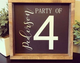 Party of sign