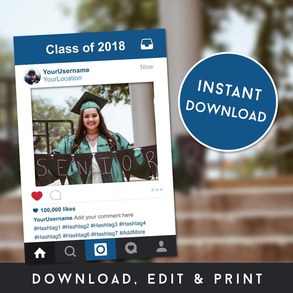 Stand-Bilderrahmen Instagram Rahmen Graduierung Photobooth | Etsy