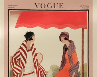 Vogue Fashion Cover July 1, 1922 High Quality Giclée Print 12 x 16 inches