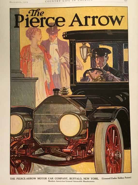 Buffalo New York Pierce Arrow Automobile Motor Car Advertisement Vintage Poster