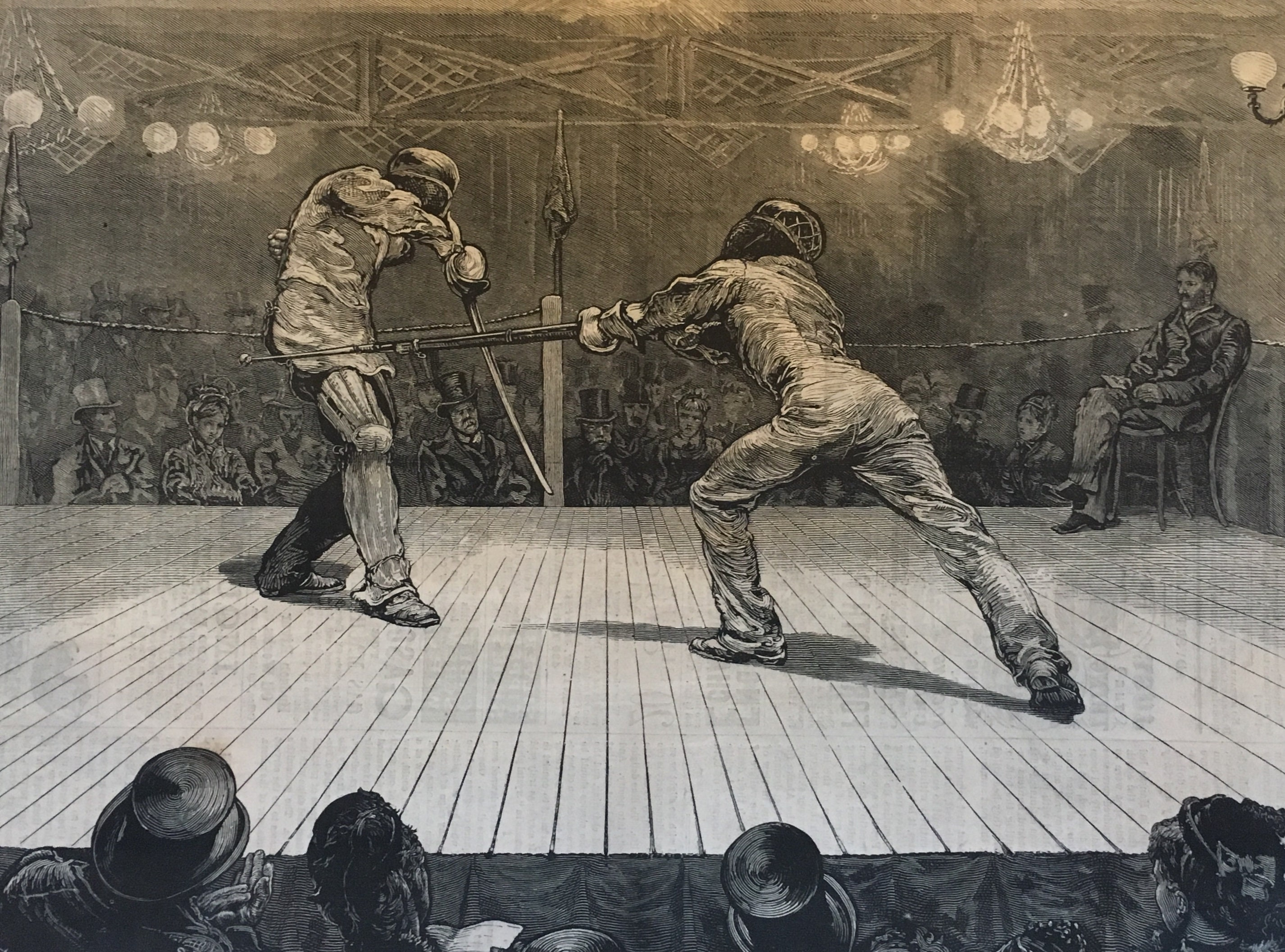 Image result for harpers weekly 1874 fencing