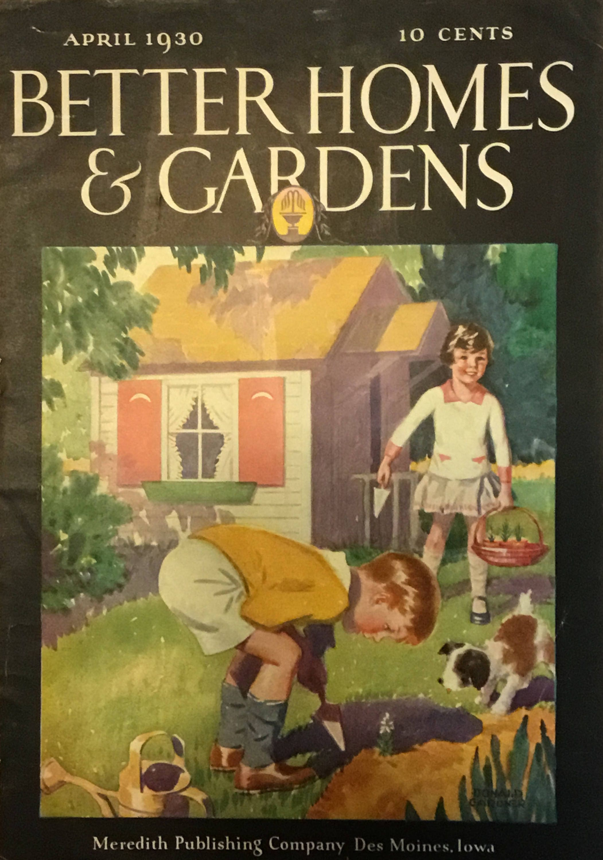 Better Homes and Gardens Original Cover, 8x12 inches, April 1930