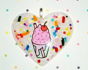 Ice Cream Sundae Charm Necklace