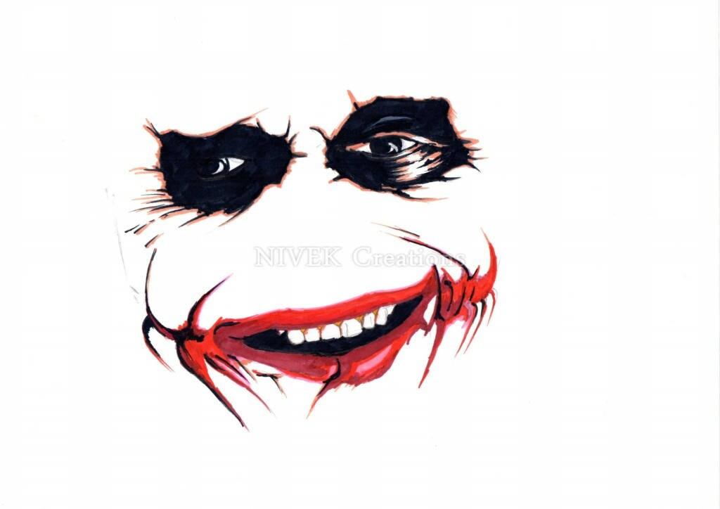 The Joker The Dark Knight Heath Ledgers Joker Marker Sketch Print