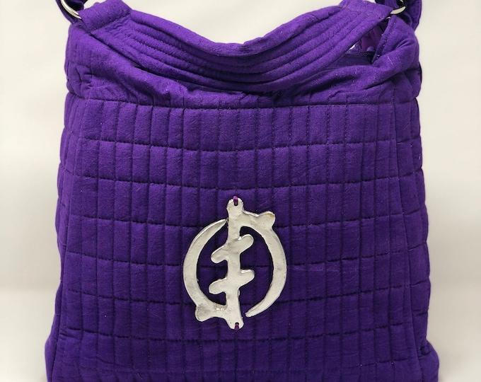 Featured listing image: Medium Hand-dyed Ultra Violet Satchel Handbag