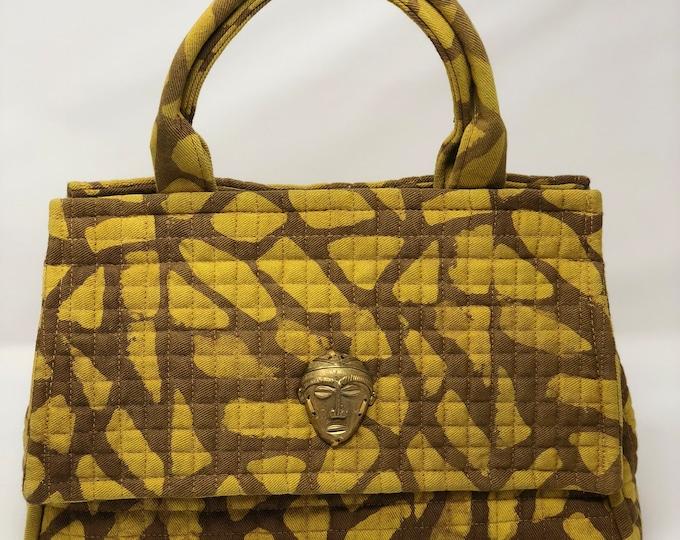 Featured listing image: Medium African Batik Satchel Handbag