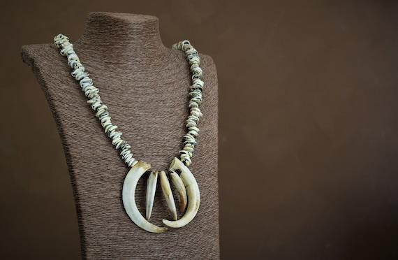 Tribal Handmade Talisman Warrior Necklace Charmrare Shamanic Etsy
