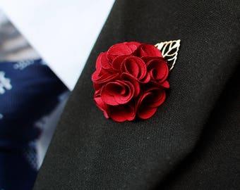 Geschickt Frauen Herren Blume Revers Pin Hochzeit Party Anzug Kleid Dekoration Boutonniere Handgemachte Revers Brosche Pin Geschenk Für Männer Home