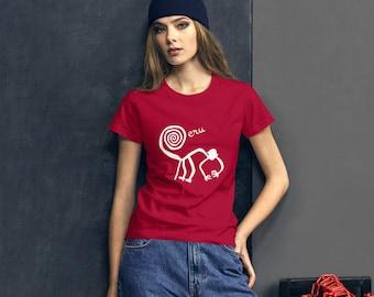 5974a5be Nazca Lines Shirt Monkey Peru South America Souvenir Anvil 880 Women's  short sleeve t-shirt