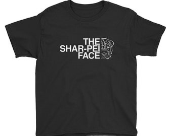 The Shar-Pei Face T-Shirt | Shar Pei Dog Shirt | Youth Short Sleeve T-Shirt