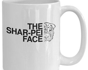 The shar-pei face mug | shar pei coffee mug