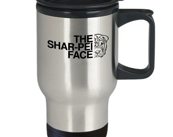 The shar-pei face mug | shar pei travel mug