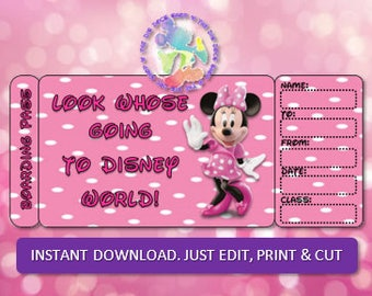 Personalized WDW Boarding Pass