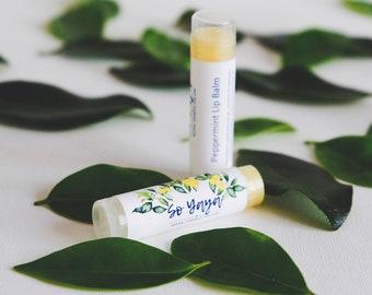 Peppermint Lip Balm / Organic Chapstick