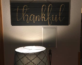 Thankful Large Pallet Sign