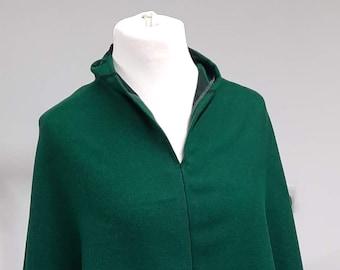Uan Wool:  Wool Poncho range of colors;  Red Poncho; Emerald Green poncho; Dark Blue poncho,
