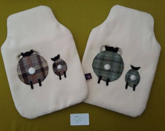 Uan Wool: 100% Wool Hot Water Bottle Cover with Rare Breed Wool Embellishments, British Wool