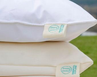 Uan Wool:  100% British Wool filling Bed Pillow