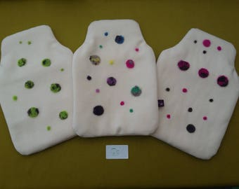Uan Wool : 100%  Wool Hot Water Bottle Cover with Rare breed wool embelishments