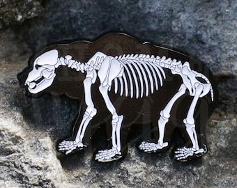 Bear Enamel Pin, Bear Pin, Skeleton Pin, Bear Print, Bear, Skull Pin, Skull Jewelry, Skeleton Patch, Bear Art, Gift for her, Enamel Pin, Pin
